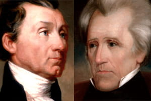 Presidents James Monroe and Andrew Jackson