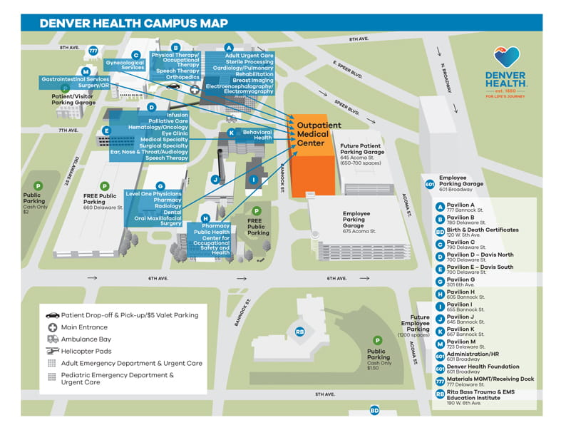 Outpatient Medical Center Moving Map Denver Health