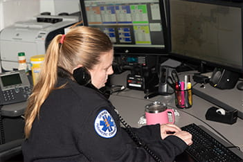 Denver Health Paramedic answering 911 call