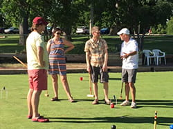 Denver Health Hospitalist Croquet Event Players In Action 2016