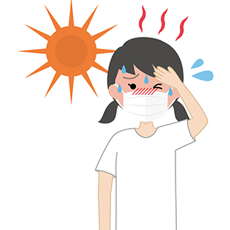 girl with mask on with heat illness COVID-19 Denver Health