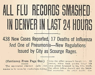 news headline 1918 flu pandemic