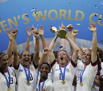 US Women's Soccer Team World Cup 2019 Win Photo Credit: AP