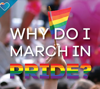 Why do I March in Pride Denver Health graphic