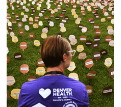 Denver Health Overdose Awareness Day Photo of Person with Opoid Death Signs