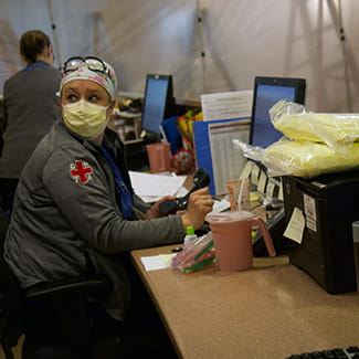 nurse at Denver Health during COVID-19 outbreak