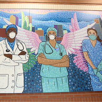 Denver Health new mural honors frontline workers during coronavirus (COVID-19)