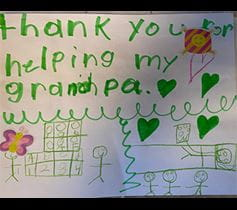 patient family thank you card Denver Health COVID-19