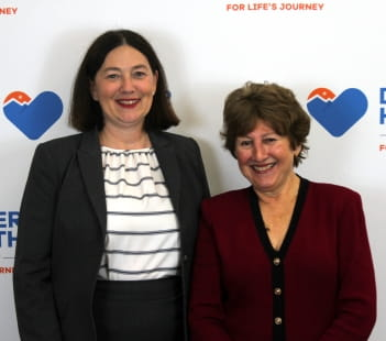 Denver Health CEO Robin D. Wittenstein and Patricia Gabow, former Denver Health CEO