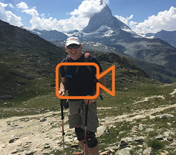 Denver Health patient Michael Rothschild in Switzerland