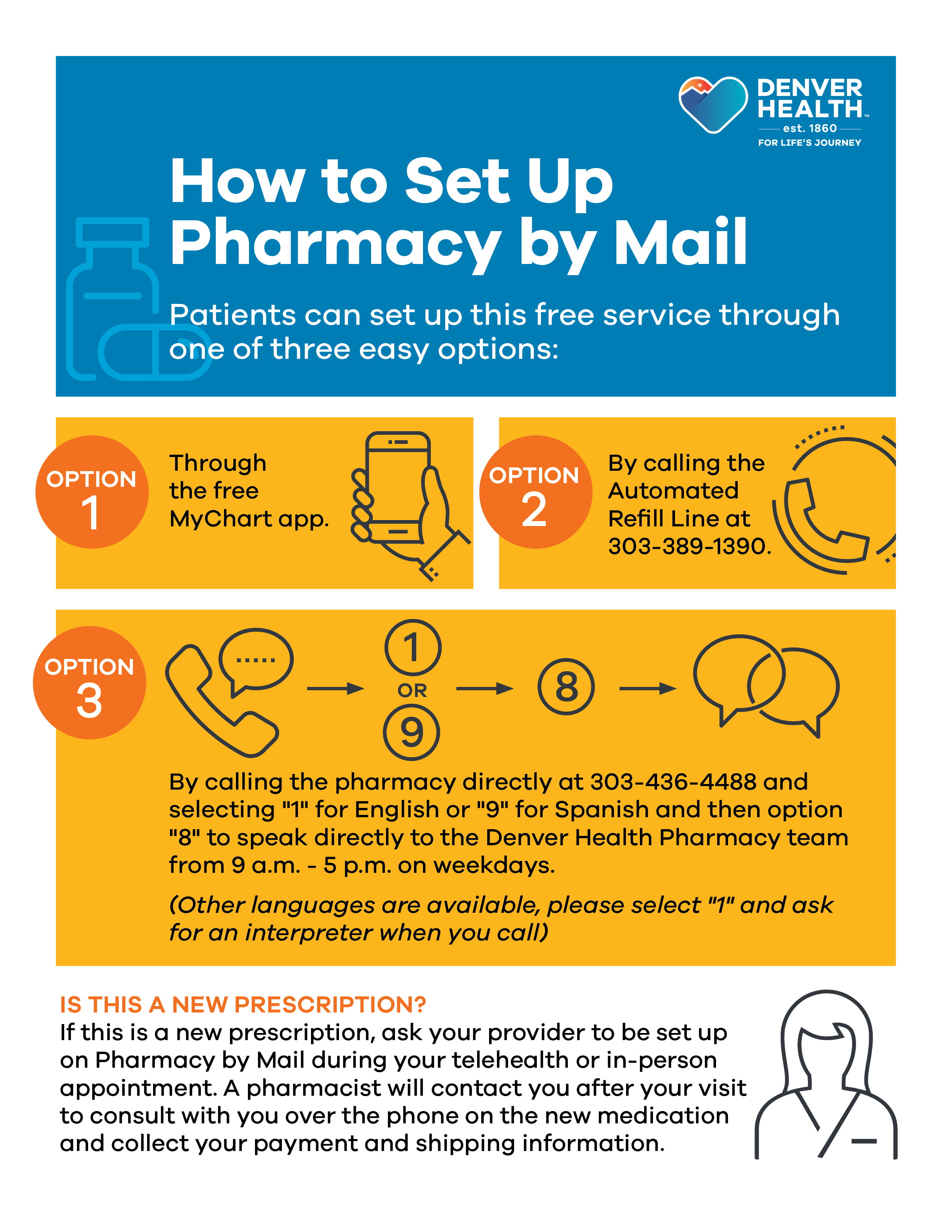 How to enroll in pharmacy by mail at Denver Health
